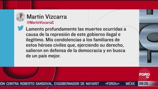 continuan protestas en peru contra el presidente manuel merino