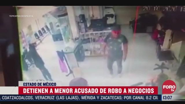detienen a menor acusado de varios robos en acolman edomex