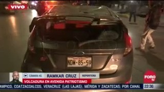 dos autos causan aparatoso accidente en patriotismo