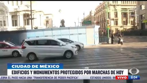 edificios y monumentos protegidos por marchas en cdmx