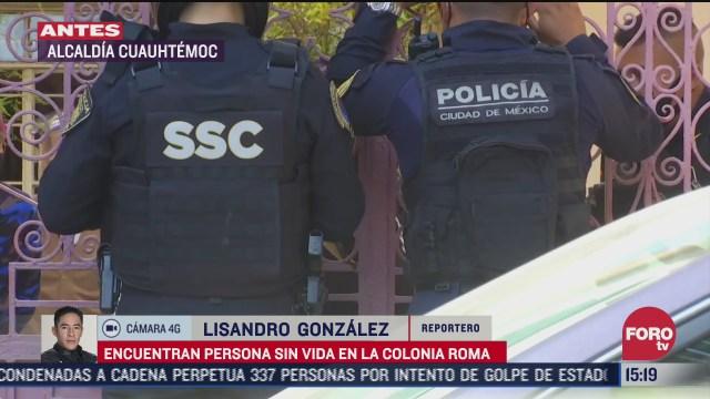 encuentran cuerpo de un hombre en domicilio de la colonia roma
