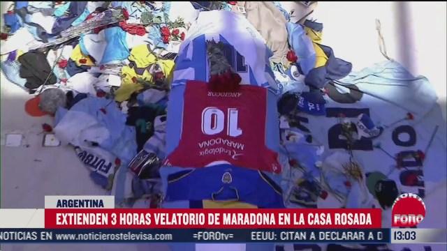 extienden tres horas el funeral de maradona tras incidentes