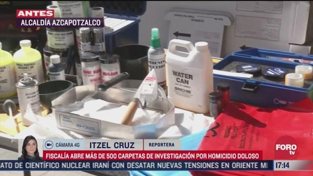 fiscalia de cdmx abre mas de 500 carpetas de investigacion por homicidio doloso
