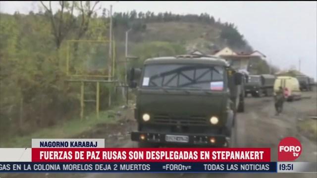 fuerzas rusas se despliegan en nagorno karabaj