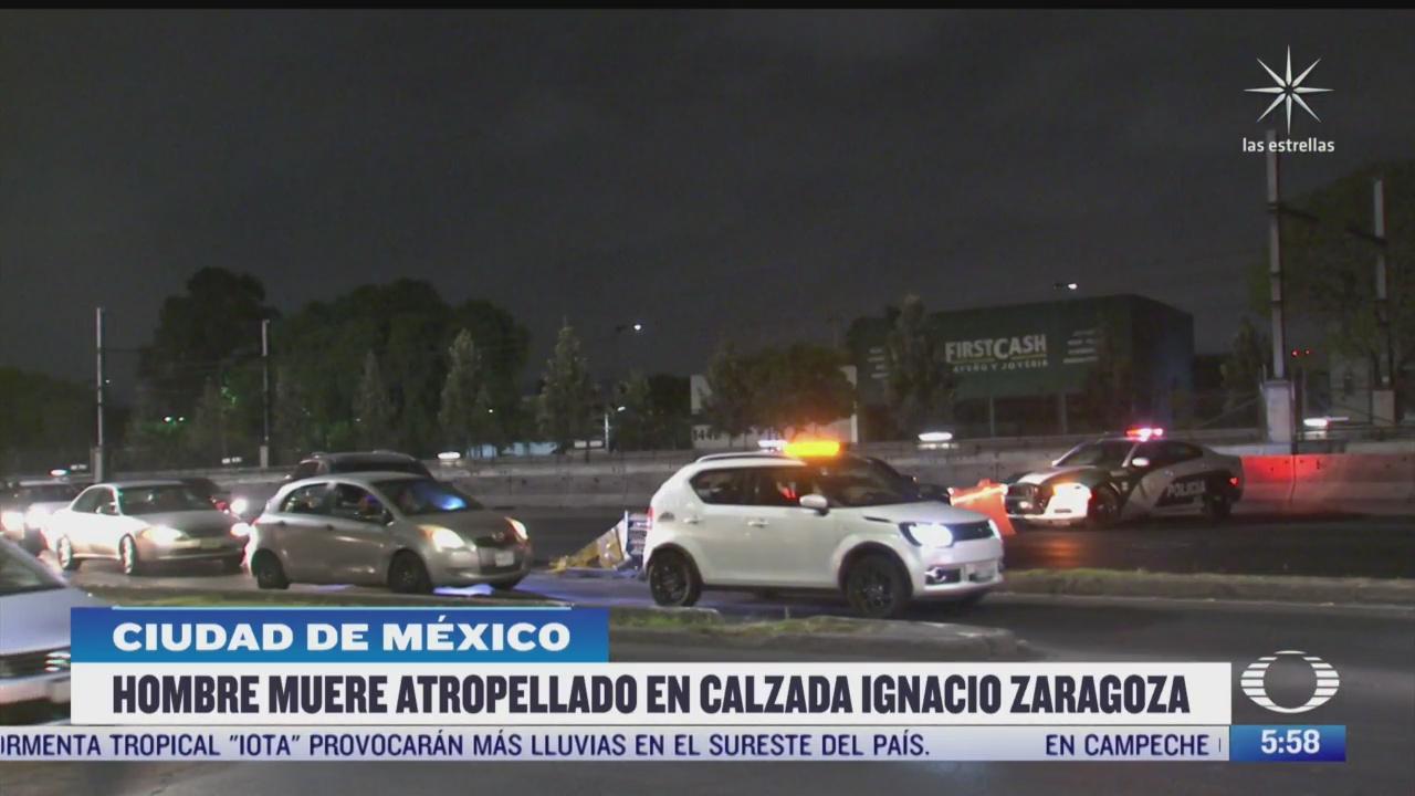 hombre muere atropellado en la avenida zaragoza cdmx