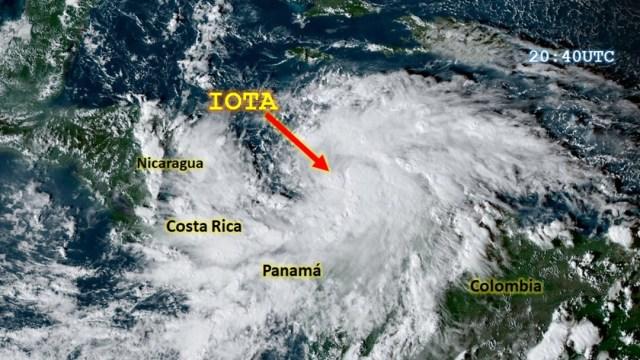 Huracán Iota impactará a Nicaragua y Honduras con categoría 4. (Foto: @servir_nasa)