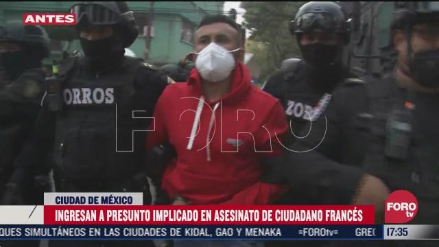 ingresan a la fiscalia a vinculado con asesinato de empresario frances en la cdmx