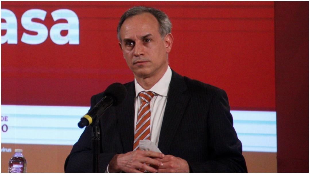 Hugo López-Gatell Ramírez, subsecretario de Prevención y Promoción de la Salud, durante conferencia de prensa