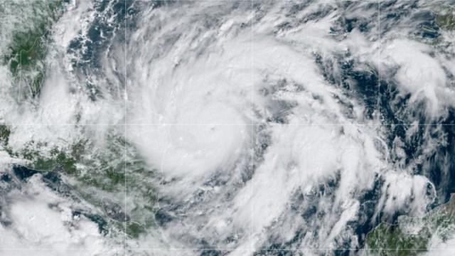 Mapa satelital del huracán Eta