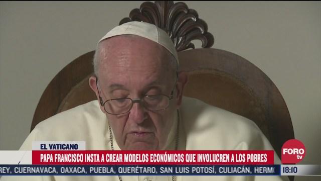 papa francisco pide a economistas modelos de desarrollo pospandemicos