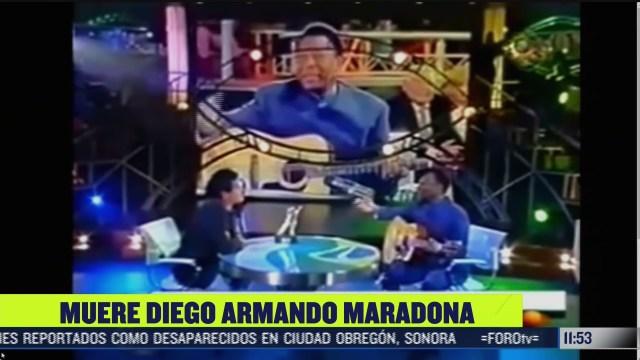 pele le canta a maradona en programa de television
