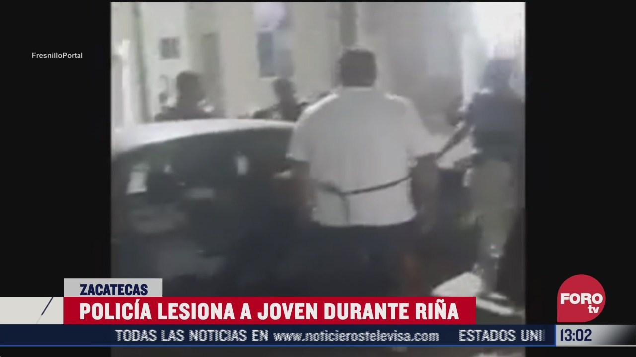 policia dispara contra un joven por rina entre vecinos