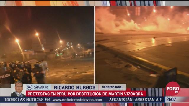 protestas por destitucion de martin vizcarra dejan un muerto