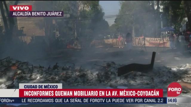 queman papeleria del instituto nacional de pueblos indigenas durante protesta