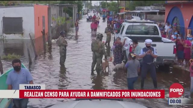 realizan censo para ayudar a damnificados por inundaciones en tabasco