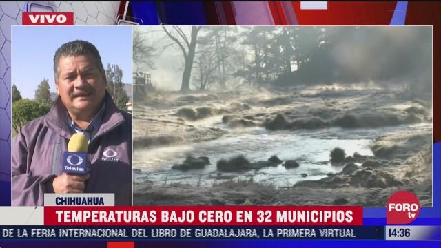 registran temperaturas bajo cero en 32 municipios de chihuahua
