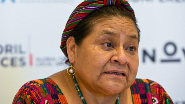 Fotografía de la premio Nobel de la Paz en 1992, Rigoberta Menchú