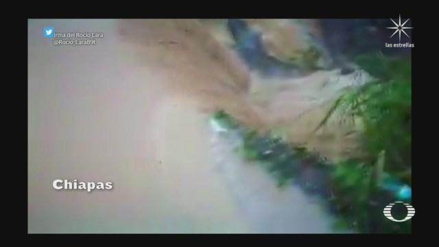 rios desbordados y derrumbes en chiapas por frente frio numero