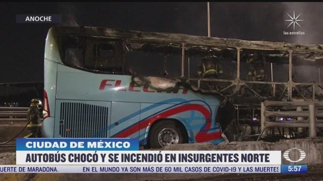 se incendia autobus de pasajeros en insurgentes norte cdmx