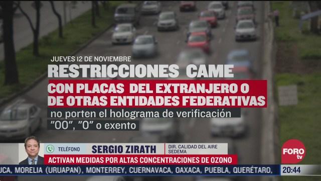 se preve que continuaran altas concentraciones de ozono sergio zirath