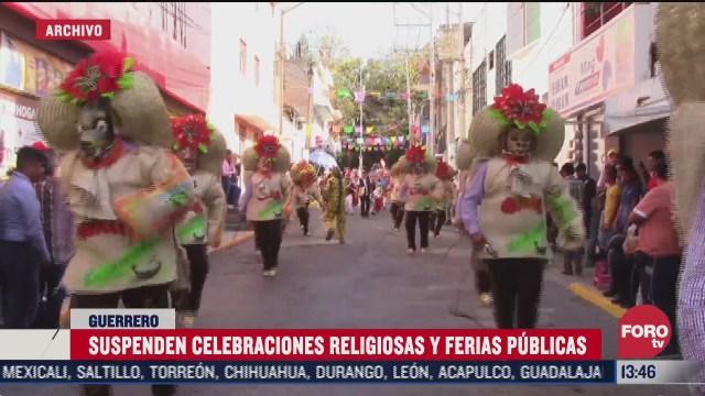 suspenden celebraciones religiosas en guerrero por covid