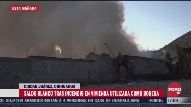 vivienda se incendia en chihuahua