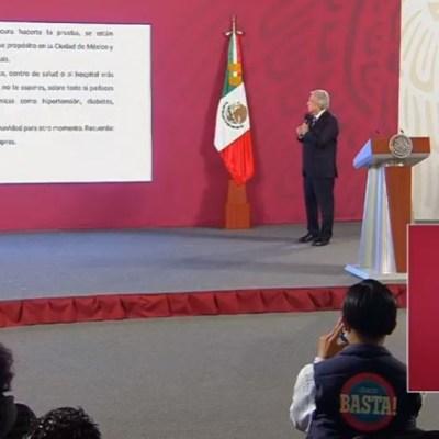 El presidente Andres Manuel Lopez Obrador en conferencia matutina desde Palacio Nacional. (Foto: Redes sociales Gobierno de México)