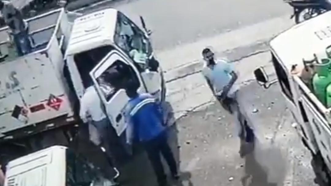 Evitó un robo lanzándole tanque de gas en la cara al ladrón
