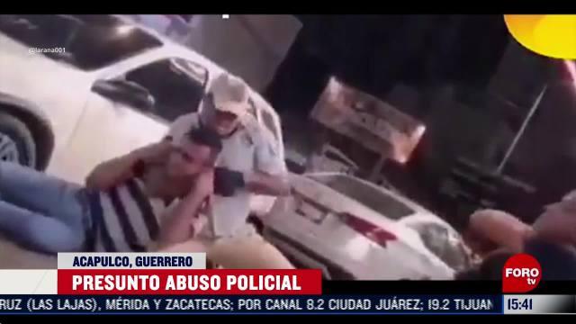 denuncian en redes sociales abuso policial en acapulco