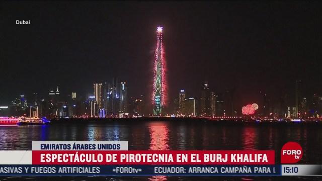 dubai recibe ano nuevo con rascacielos burj khalifa como escenario principal