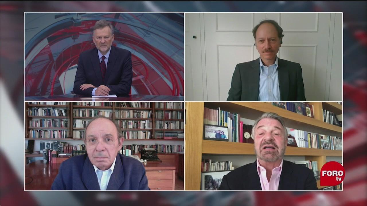 Leo Zuckermann y la mesa de debate, Héctor Aguilar Camín, Jorge Castañeda y Javier Tello analizan las reformas de los últimos meses