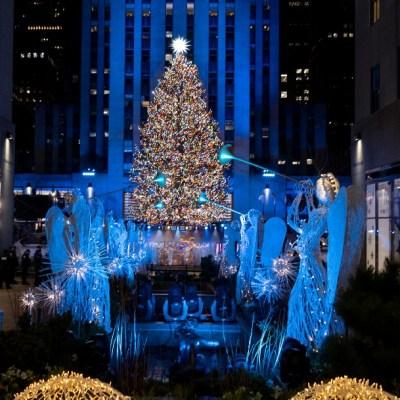 Encienden árbol de Navidad de Rockefeller Center