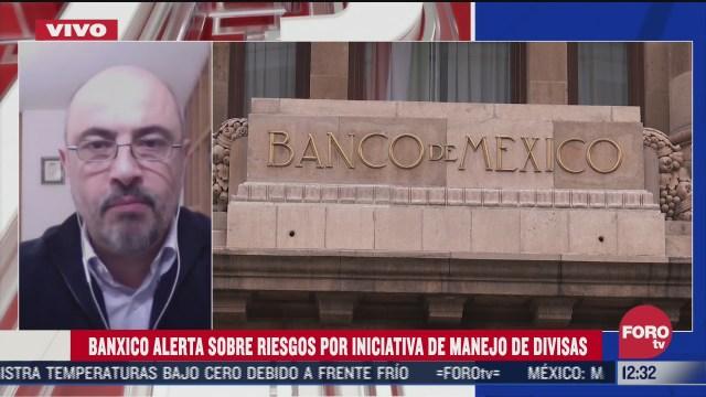 especialista advierte sobre riesgo por iniciativa de manejo de divisas