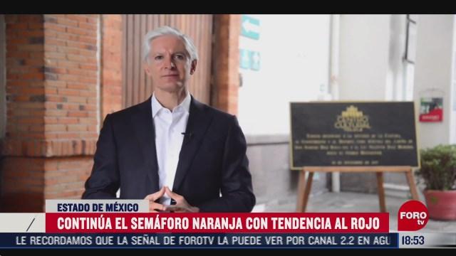 estado de mexico continua en semaforo epidemiologico naranja