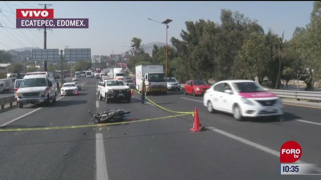 fallece motociclista en la autopista mexico pachuca