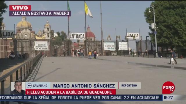 fieles visitan sin aglomeraciones la basilica tras reapertura