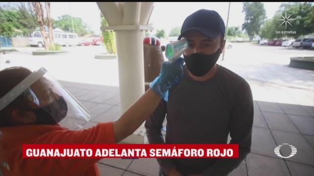 guanajuato regresa a semaforo rojo