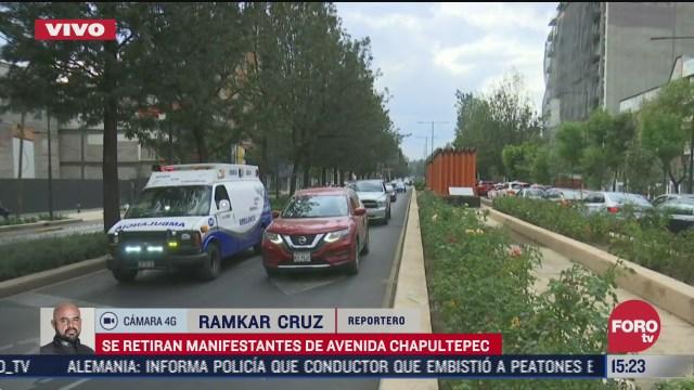 manifestantes liberan av chapultepec