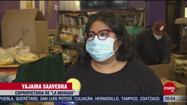 mexicanos transforman su negocio en cocina comunitaria para migrantes