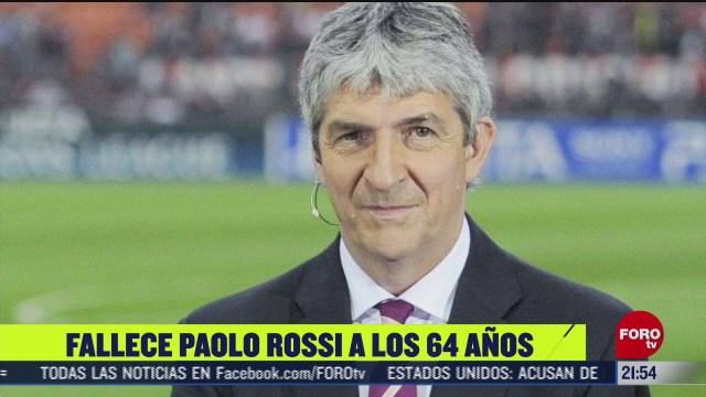 muere el exfutbolista italiano paolo rossi a los 64 anos de edad