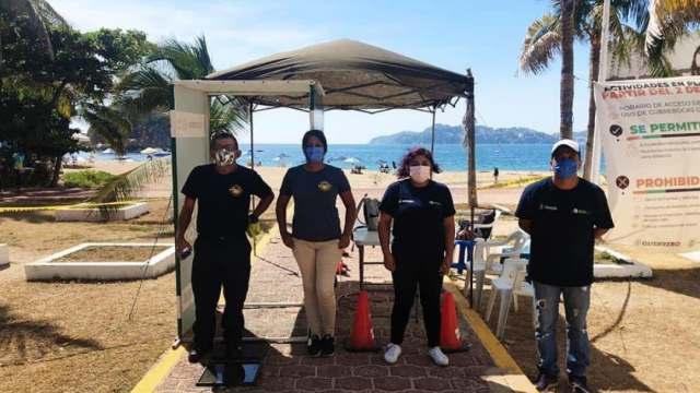 Operativos en playas de Acapulco por COVID-19