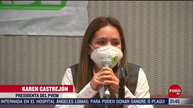 partido verde ecologista aun no define alianza rumbo a las elecciones de
