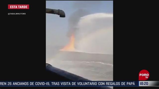 pemex controla incendio en ducto cerca del puerto de dos bocas en tabasco