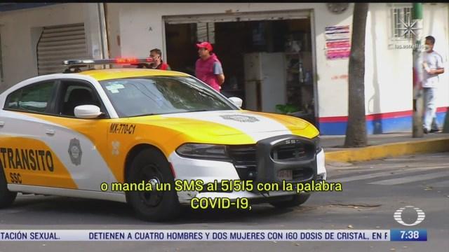 policias advierten con perifoneo sobre riesgos por covid 19 en colonias de la cdmx