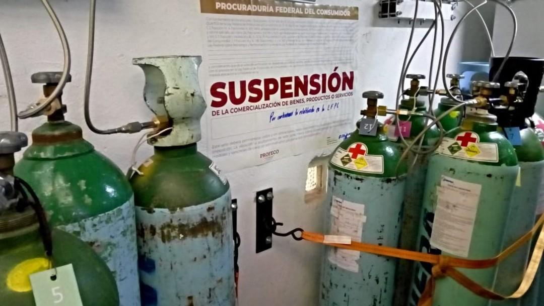 PROFECO clausuró seis establecimientos de venta de oxígeno por irregularidades en los precios