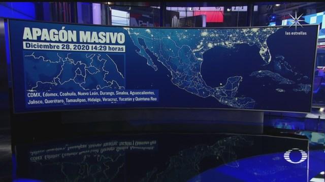 se registra apagon masivo en el valle de mexico y otras 12 entidades
