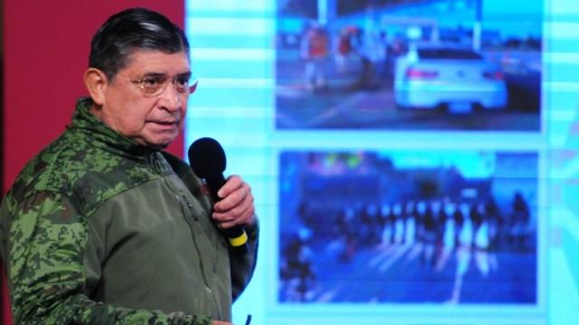 Luis Cresencio Sandoval, durante su participación en la conferencia de prensa sobre seguridad