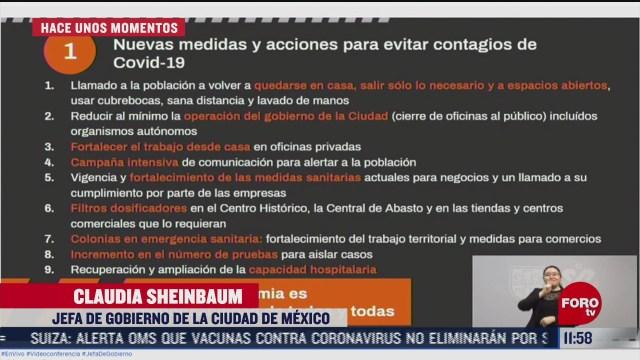 sheinbaum anuncia nuevas medidas para reducir contagios de covid 19 en cdmx
