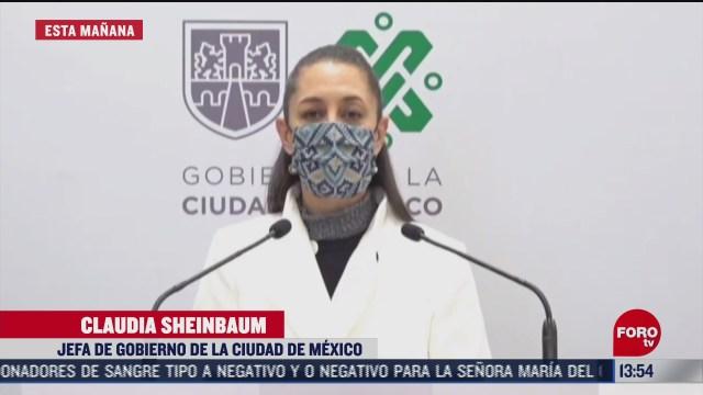 sheinbaum insiste en evitar fiestas de ano nuevo para frenar contagios de covid