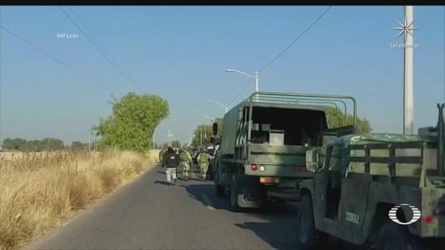 abaten a ocho delincuentes durante enfrentamiento en guanajuato